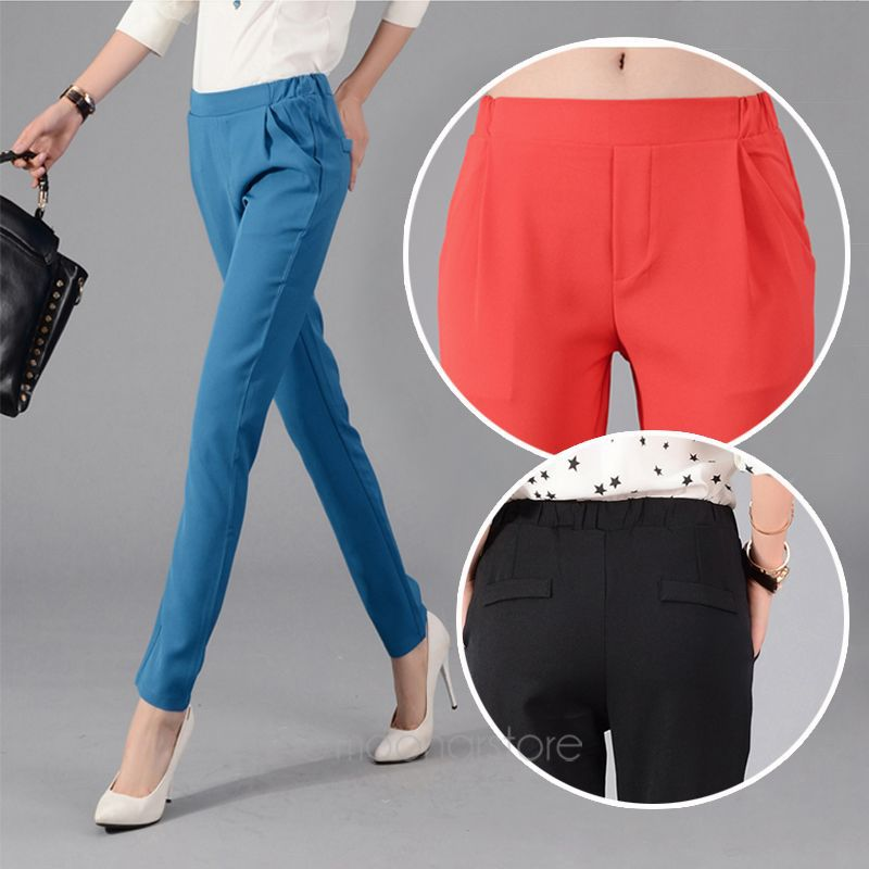 2014 Women Casual Pants Ladies Candy Color Slim Pencil Pants Womens Trousers Skinny Pants XE3213 M2