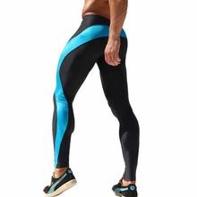 New Men High Stretch Tight Pants Men Gym Clothing Low Waist Men's Legging Joggers Spandex Sports Jogging Pants Pantalon
