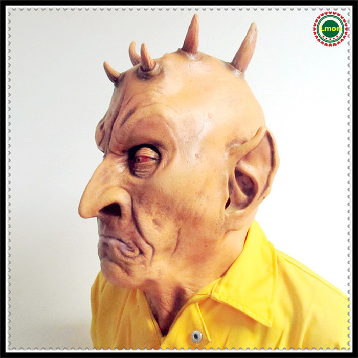 Latex Scary mask Realistic UFO Alien Head Mask Creepy Costume Party Cosplay face head fancy dress