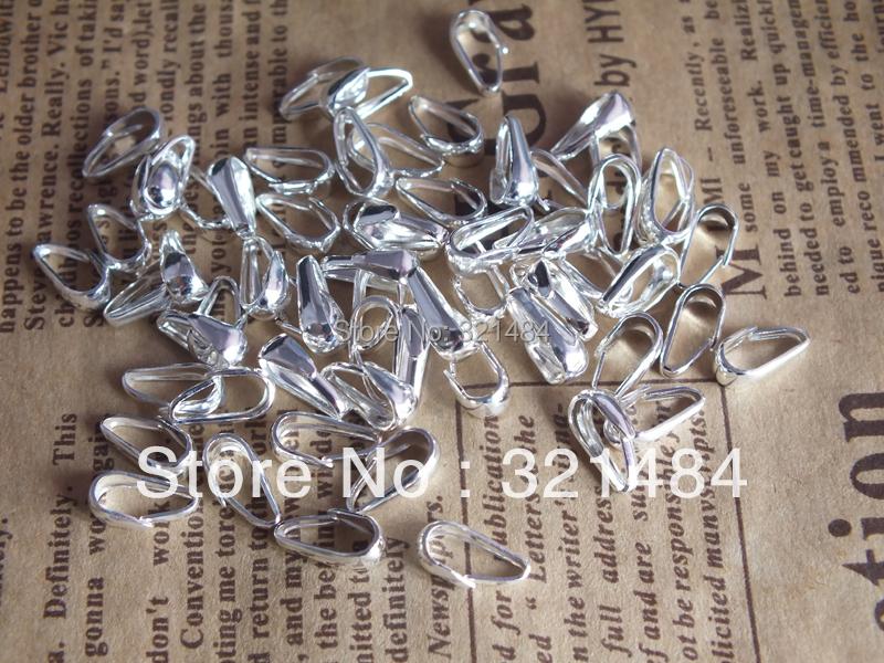 Здесь можно купить  Wholesale 5000pcs 3*9mm Silver plated Pendant Pinch Clips Hooks Bails Connectors Jewelry Findings DIY beads Making Supplies  Ювелирные изделия и часы