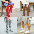 2016 New Baby Girls Lovely Fox Leggings winter warm Infant Kids Cotton Legging Stockings Hosiery Birthday