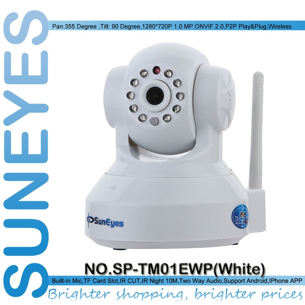 SunEyes SP-TM01EWP ONVIF 720P HD Wireless Wifi Network IP Camera with TF/Micro SD Card Slot(China (Mainland))