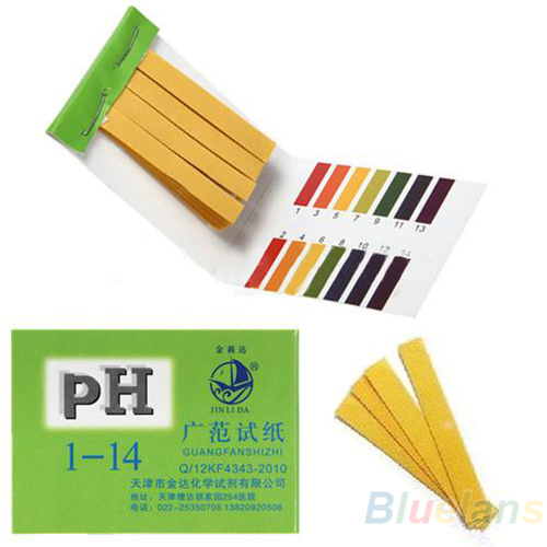 80 Strips Full Range pH Alkaline Acid 1-14 Test Paper Water Litmus Testing Kit 1NRI(China (Mainland))