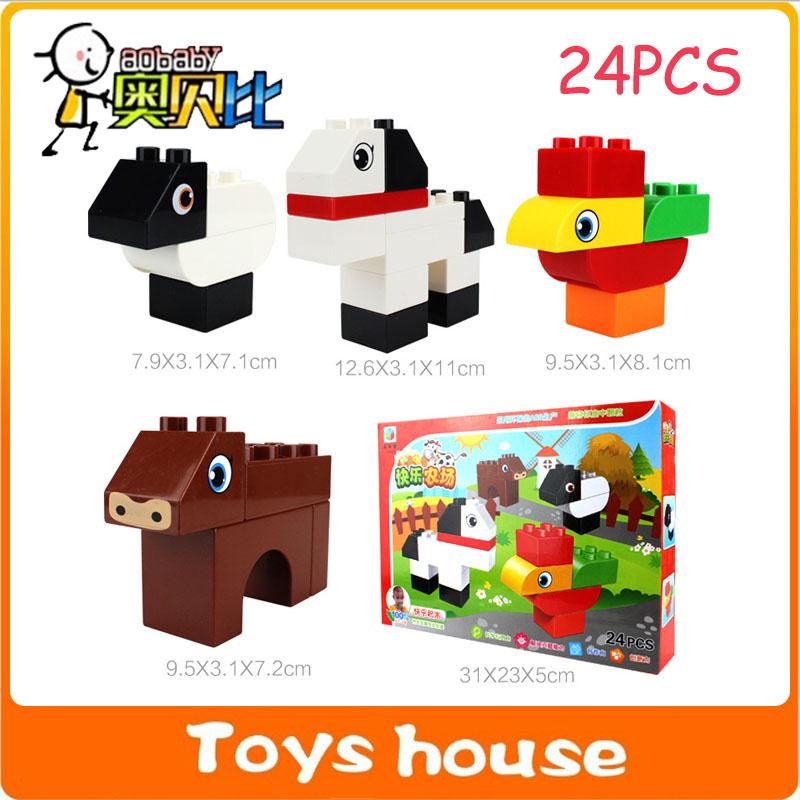 24PCS Building blocks mega blocks building construction toys toddlers models & building toy educational toys(China (Mainland))