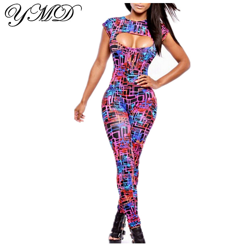 Fashion print bandage summer romper summer women bodysuit plus size