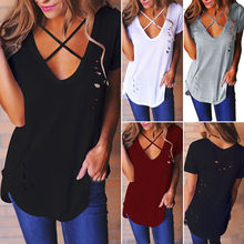 Buy Fashion Women Ladies Clothing Tops Loose Pullover T Shirt Short Sleeve Casual Cotton Tops T-Shirts New Clothes Summer for $4.71 in AliExpress store
