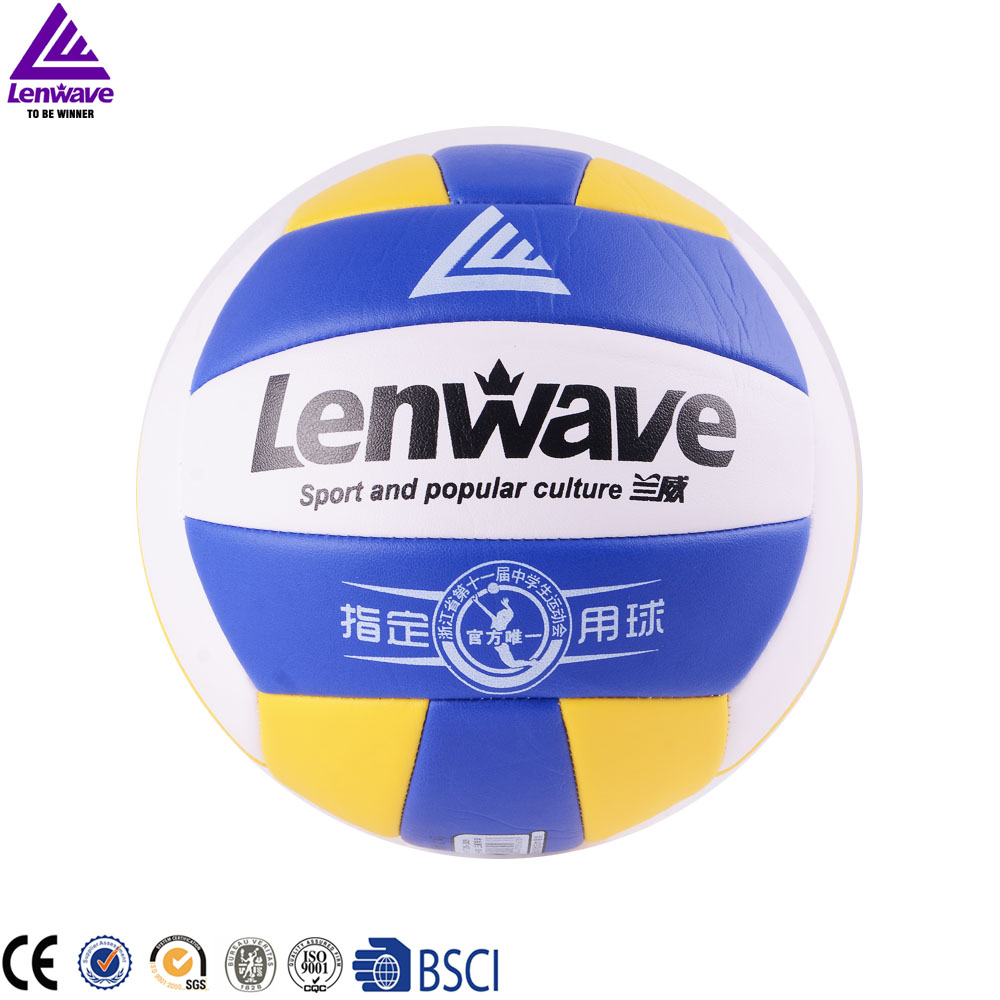 2016 Lenwave Outdoor Sports Training Sand Beach Volley Ball PU Official Size 5 volley ball(China (Mainland))