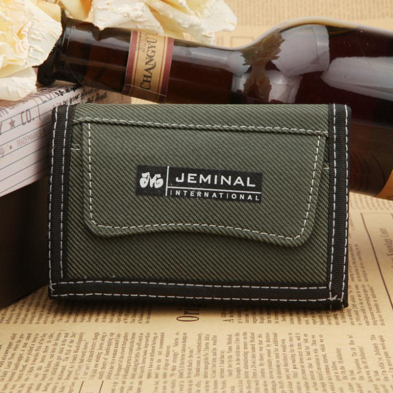 Men Sport Wallet New Pattern 3 Foldings Solid Canvas Short Wallets Purse for Men Free Shipping(China (Mainland))