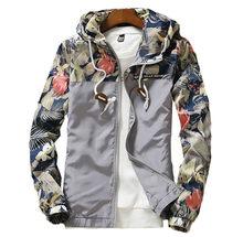 [EL Barco] Мода Цветочный принт куртка Для мужчин зима тонкий Кардиганы для женщин цвет: черный, Синий Серый Белый Зеленый Повседневное мужской ...(China)