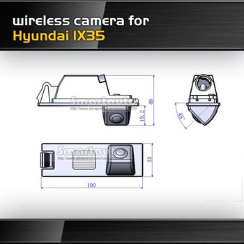 High quality HD CCD wireless for Hyundai IX35 car reverse backup rear view camera car parking system night vision waterproof