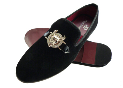 loafers men dark casual velvet slippers shoes US size 6-13 - Merling Garden store