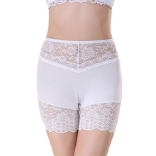 New Arrive Underwear Women Safety Panties Ladies Modal Lace Floral Sheer Sexy Braguitas Boyshorts Boxer Free Shipping NY167(China (Mainland))