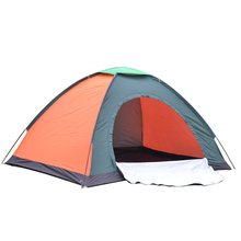 Brand New wear-resistant waterproof pe bottom 3 Seasons Waterproof UV Outdoor Hiking double resident Camping Tent(China (Mainland))