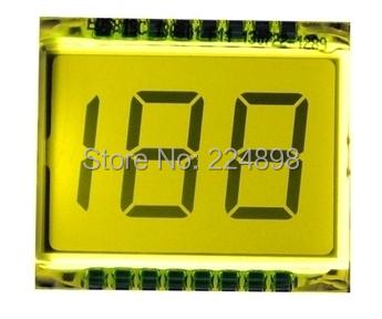 16PIN TN Positive 2-1/2 Digit Segment LCD Panel Yellow Green Backlight PCF8576 / EM6110 Drive IC