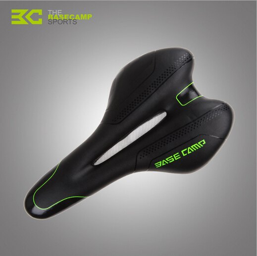 BaseCamp Cycling Road Bike PU Saddle MTB Thickened 3D Silica Gel Cushion Seat Fixed Gear Bicycle Part High Quality<br><br>Aliexpress