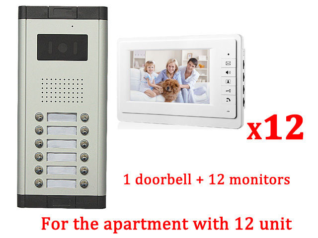 Apartment 12 Unit Intercom Entry System Wired Video Door Phone Audio Visual<br><br>Aliexpress