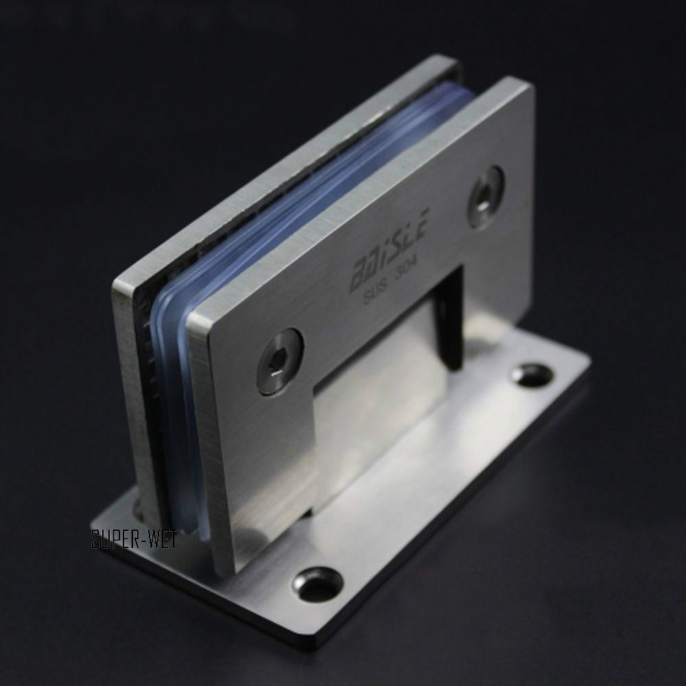 Stainless Steel Brushed 90 Frameless Shower Door Hinge Bathroom Connector Tool(China (Mainland))