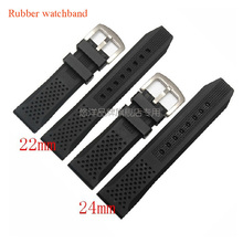 Rubber soft Watch band 24mm 22mm TOP GRADE Waterproof Silicone  Bands Straps Watch Bracelets for men sport watches Free Shiping