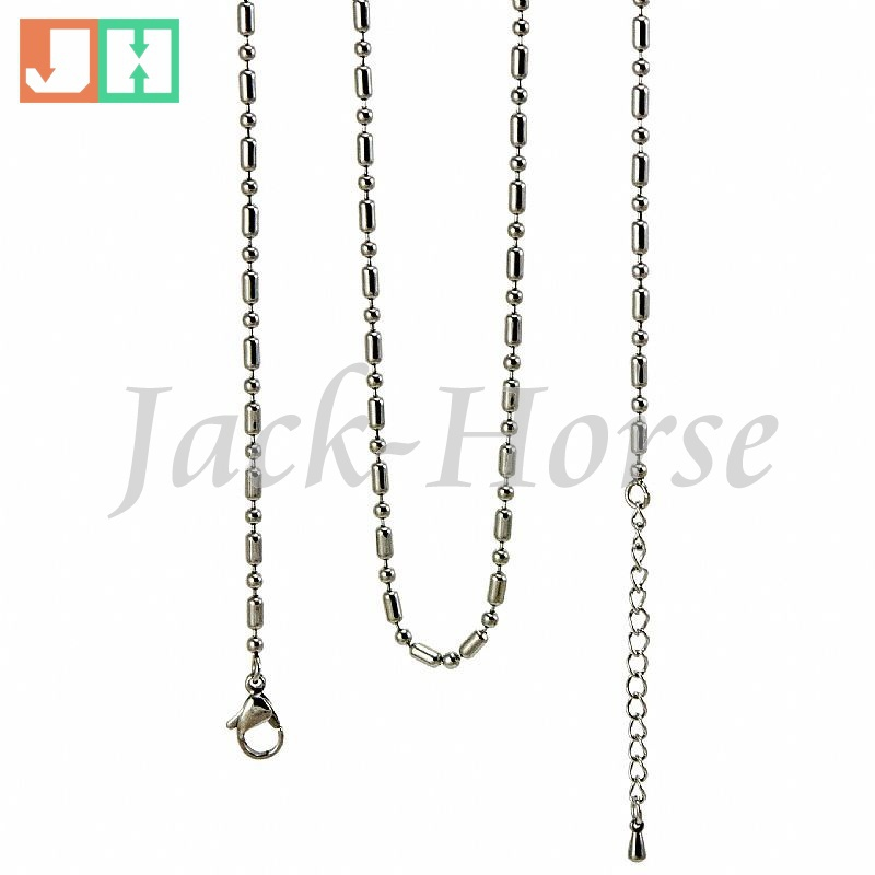 Free shipping 2.4mm stainless steel floating locket chain ball chain bamboo chain(China (Mainland))