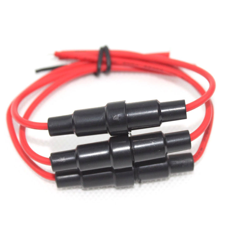 2015 New!10PCS/lot 5x20mm AGC Fuse Holder Inline screw type with 18 AWG wire high quality VE822 P<br><br>Aliexpress