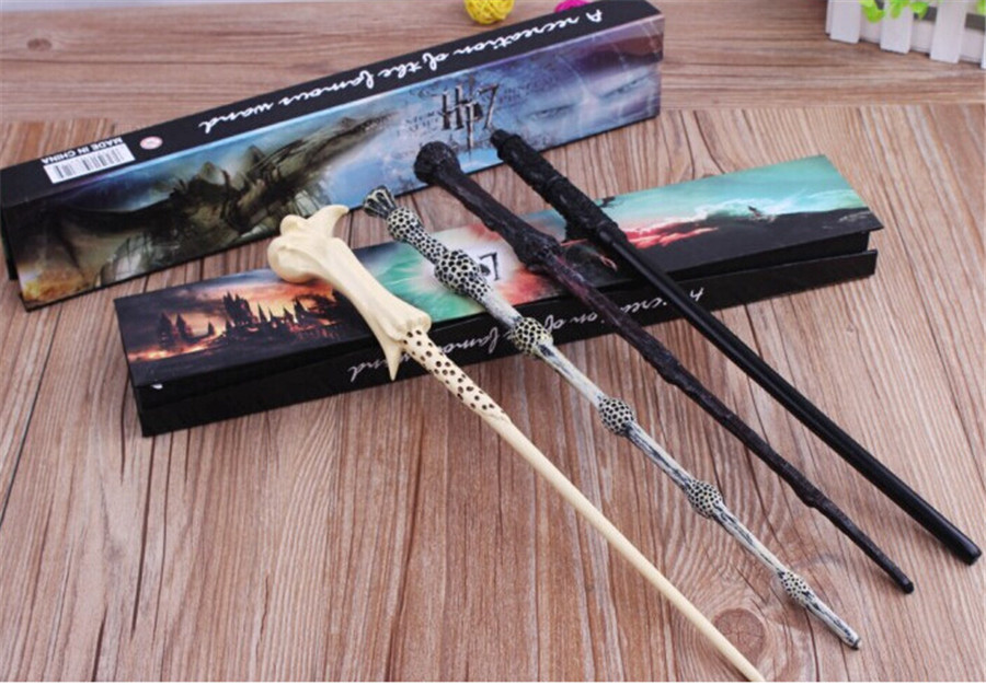 100pcs lot new hot led wand deathly hallows hogwarts for Harry potter deathly hallows wand