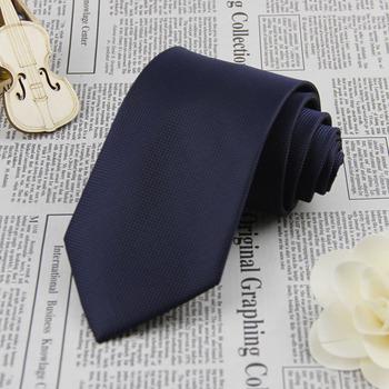 Navy Blue Grid 3.4'' 100%Silk Jacquard Classic Woven Man's Tie Necktie FS24
