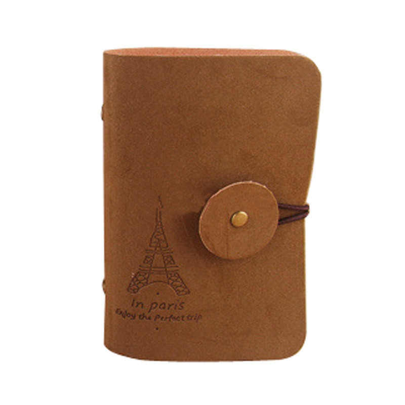 Retro Eiffel Tower Women Men Pu Leather Pocket Business Credit Business ID Card Holder Wallet Bag Case carteira Free Shipping<br><br>Aliexpress