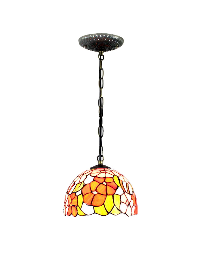 Foyer Lighting Tiffany Style : Ems free tiffany style pendant lamp pansy floral glass