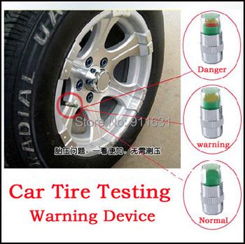 4pcs/Lot Car Wheel 2.4 bar 36PSI Tire Pressure Cap Sensor Indicator 3 Color Eye pressure Motorcycle Bike Wheel Caps Test Tools