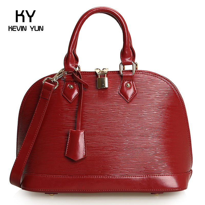 2013 candy color vintage genuine leather brief cowhide handbag shell bags womens handbag 0303 Large<br><br>Aliexpress