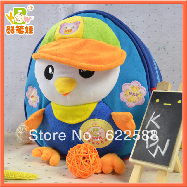 Hot selling more cute plush school bag kids school bag plush children backpack