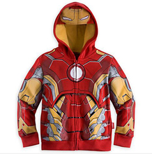2015 Outerwear boys gril Coat Children hooded boy jackets kids clothes cartoon Superman clothing free shipping