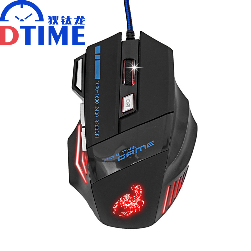 brand Pc x7 3D USB computer 3200DPI gaming air mouse for Dota2 optical mouse steelseries games mause sem fio car laptop raton(China (Mainland))