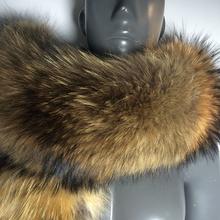 DIY length 100% Real Fur Scarf Jacket Fur Collar Women Winter Coat Fur Scarves Luxury Raccoon Fur Winter Warm Neck Warmers #BF01(China (Mainland))