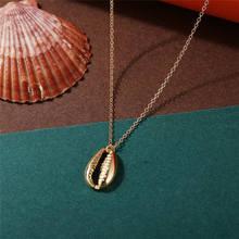 17KM bohème Shell Multi couche colliers pour femmes fille mode or argent couleur longue lune pendentif collier collier bijoux(China)