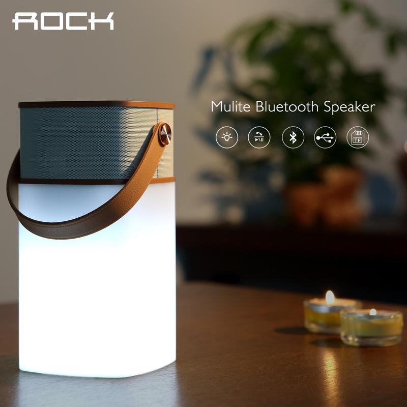 ROCK Original Mulite Bluetooth Speaker Super Bass Music Subwoofer Speakers With LED Light TF Card Brand louspeaker box(China (Mainland))