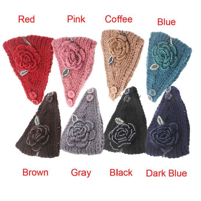 Fantastic Women Crystal Design Headband Knit Winter Headwrap Ear Warmer Hairband(China (Mainland))