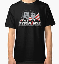 Print T Shirt Male Brand Neil Degrasse Tyson And Nye Campaign Men'S 100% Cotton O-Neck Short-Sleeve Tee(China (Mainland))