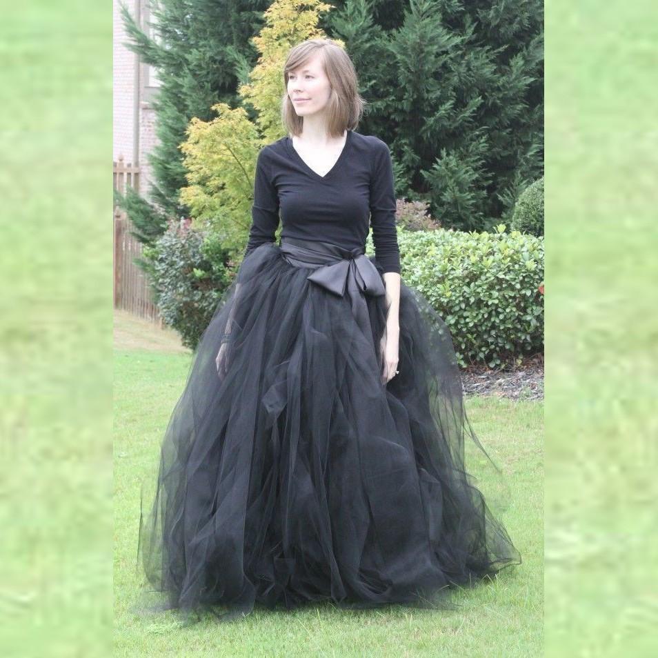 acheter femme tulle jupe 2015 nouveau mode long black tutu jupe robe de bal avec. Black Bedroom Furniture Sets. Home Design Ideas
