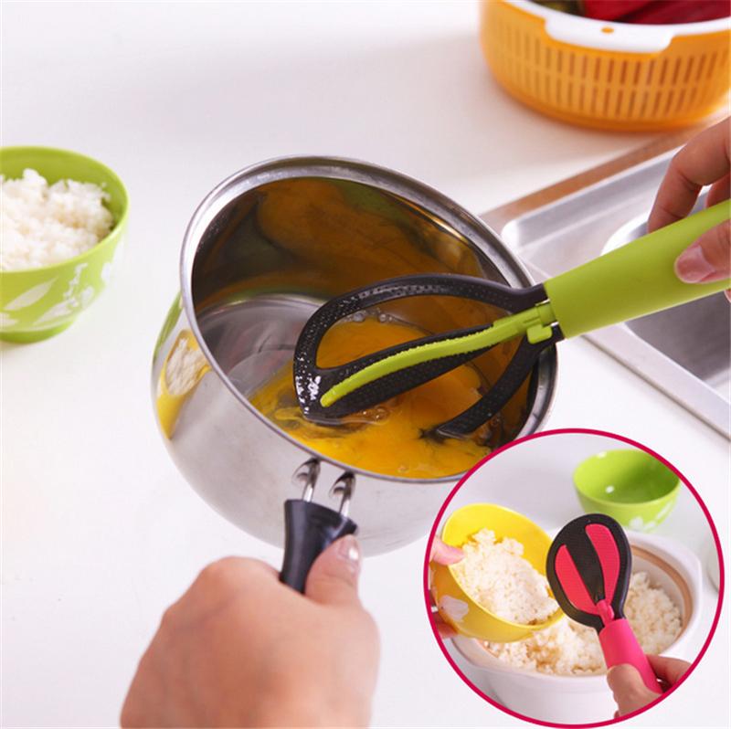 Multifunctional Nonstick Rice Paddle Scoop Plastic Rice Wash Spoons Upright Rotary Egg Beater ladles Kitchen FlatwareTool 0250(China (Mainland))