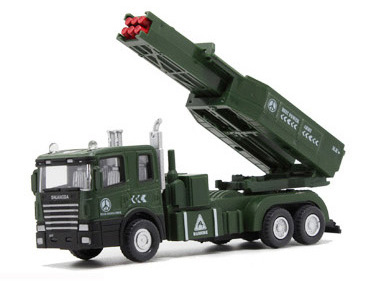 Rockets chariots Alloy military model tactical World War II military vehicle toy car(China (Mainland))