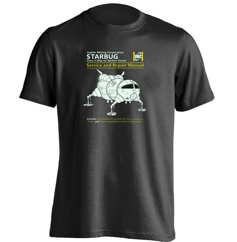 Red Dwarf Starbug Service And Repair Manual Unisex Cool T Shirt(China (Mainland))