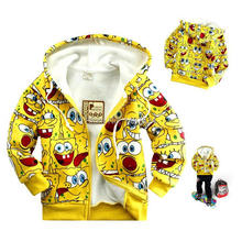 Autumn and winter children sweater / kids cartoon Hooded Jacket / boys and girls fashion leisure clothing(China (Mainland))