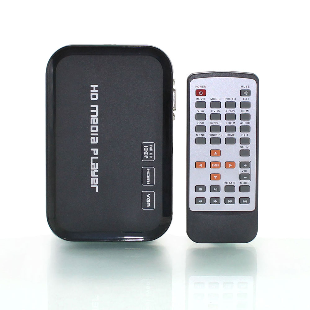 3D 1080P HD HDMI Media Player DIVX RMVB MKV H.264 SD SDHC USB MP3 JPEG IR Remote HDMI Cable included(Hong Kong)