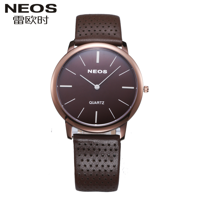 NEOS 2016 brand luxury Ultra thin minimalist fashion watch quartz watch waterproof lovers watch men leather mesh watches(China (Mainland))