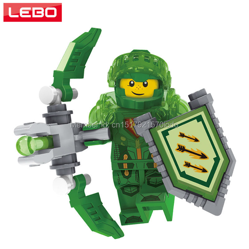 Single Sale Nexo Knights Future Building Blocks Aaron Minifigures Figures Model Bricks Nexus Legoelieds Compatible Kids Toy Gift  -  LEBO TOY CITY store
