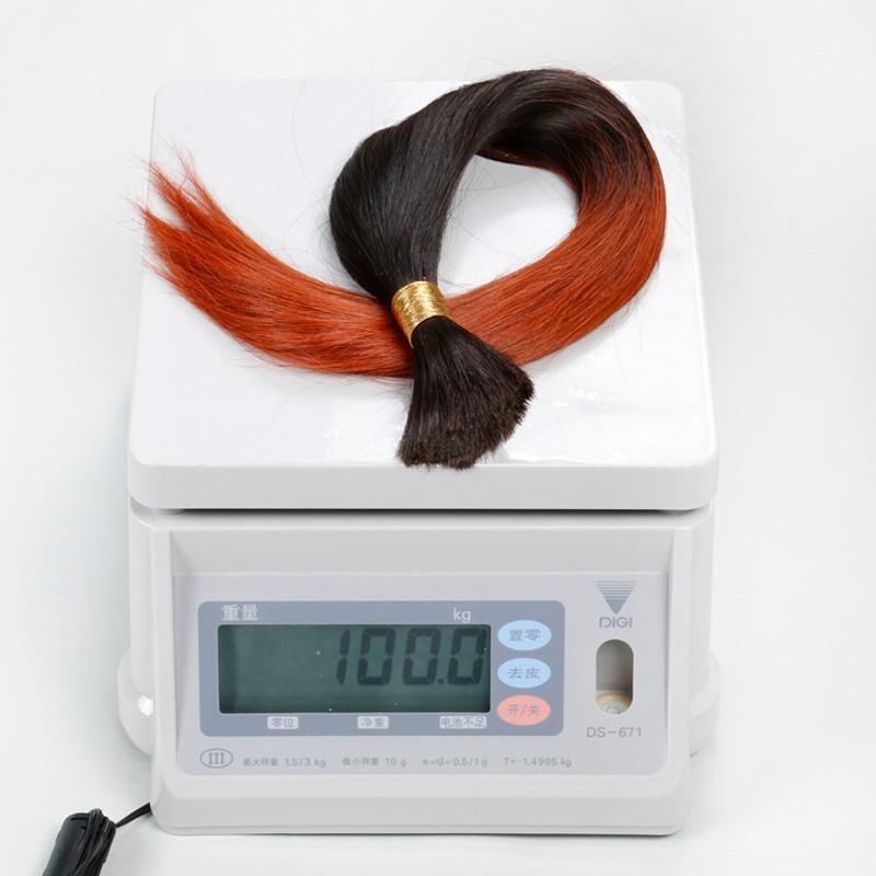 Sleek Brazilian Girls Virgin Hair 10A Bulk hair Ombre Colorful Human Hair Human Braiding Hair Bulk T1B/130 2PCS Lot Aliexpress