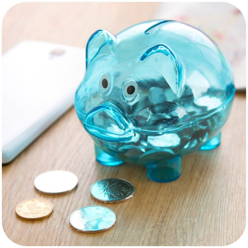 Nordic transparent pig Moneybox, Money pot birthday gift large cute piggy bank K3767(China (Mainland))