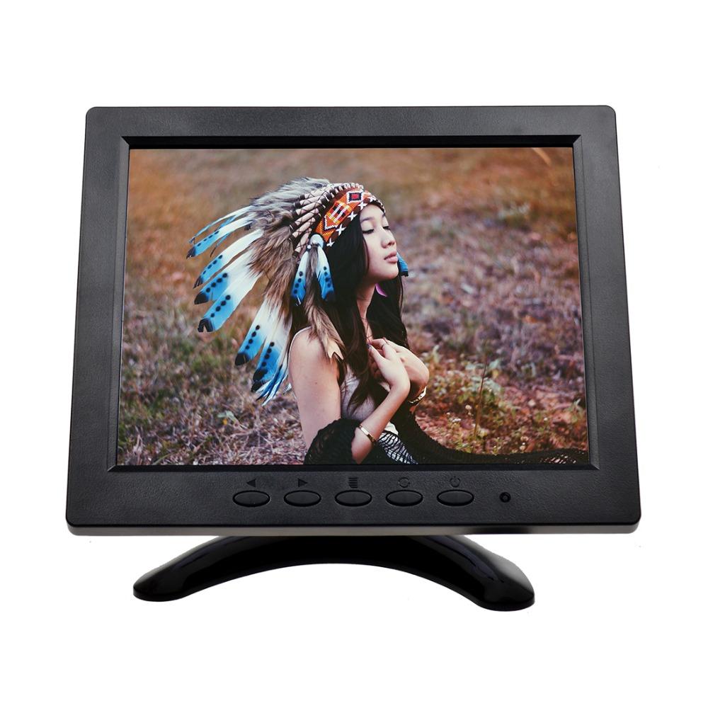 "Фотография 8"" inch 1024*768 Utra-thin Portable TFT LCD Car Monitor Screen Display For PC CCTV Camera with VGA AV BNC HDMI Port"