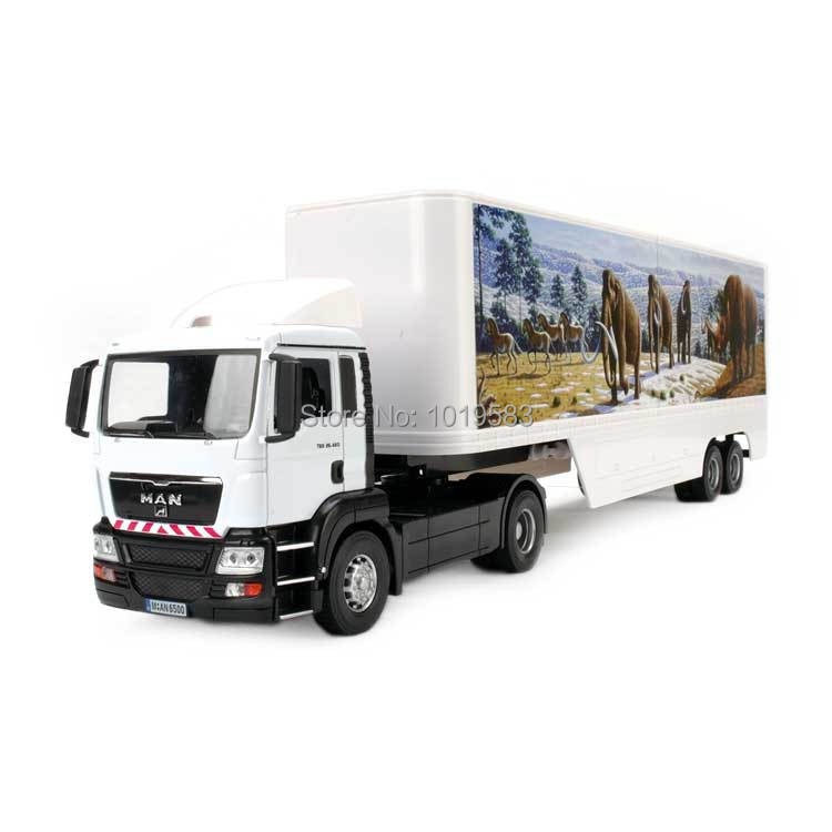 JOYCITY 1/32 Scale Truck Model Toys Germany MAN Super Long Container Trailer Diecast Metal Car Toy New In Box For Gift/Kids(China (Mainland))